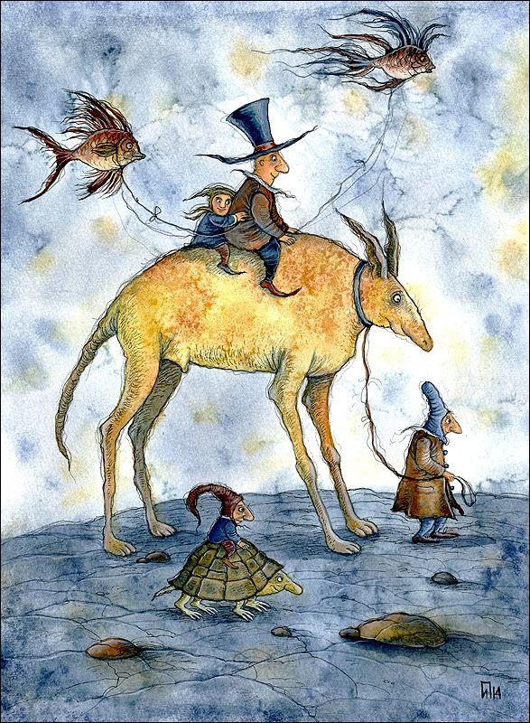 Только детские книги читать... только детские думы лелеять... - Выставка Ирины Петелиной