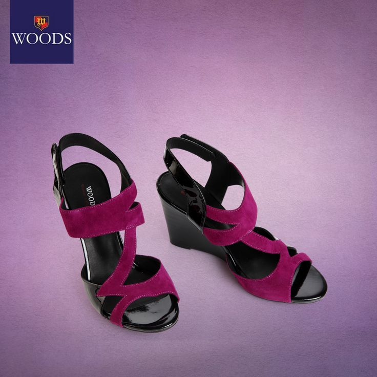Make your feet feel as royal as you do with our duo-tone purple wedges!