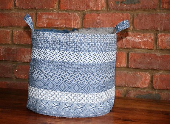 Storage Basket Large African Shweshwe by ChameleonGirlDesigns, $25.00