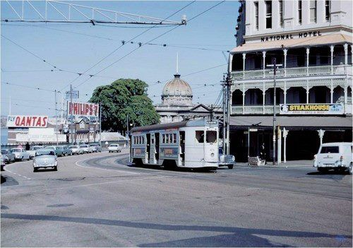 Petrie Bight 1965. — with Customs House in Brisbane