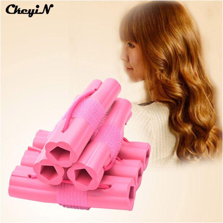 6 stks Magic Foam Spons Haar Krultang DIY Fashion Golvend Haar Reizen Thuisgebruik Soft Hair Curler Rollers Styling Gereedschap HS41-43P