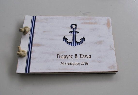 anchor guest book / nautical guest book A4 / anchor by WoodYourDay