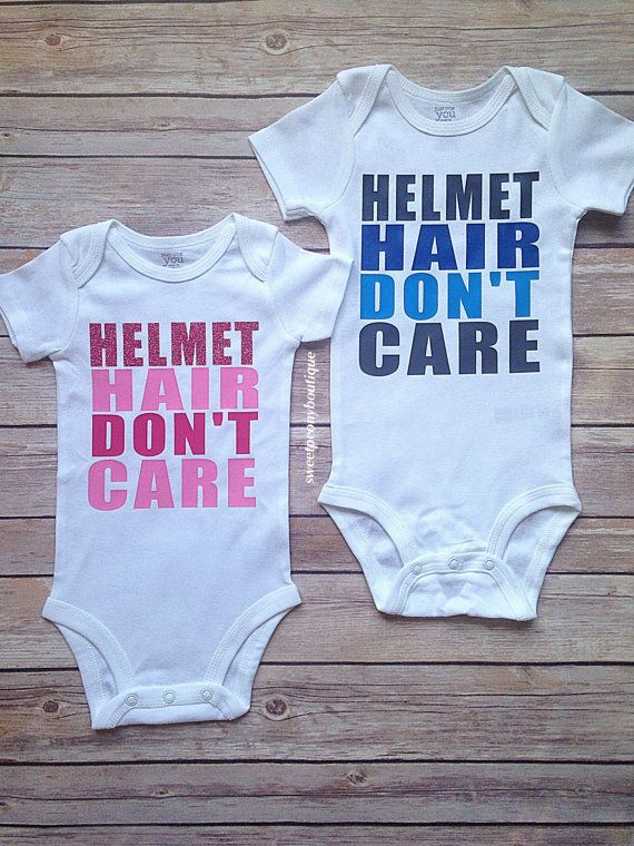 Helmet Hair Don't Care Bodysuit by SweetPeonyBoutique on Etsy