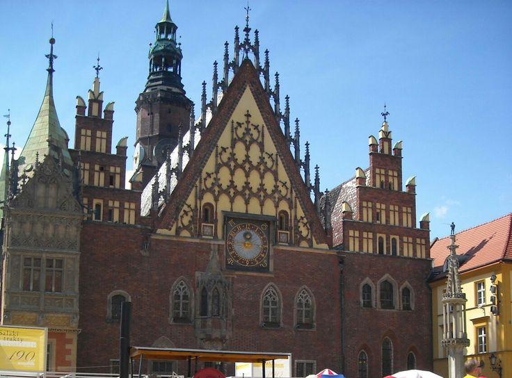 Old Town Hallin Wrocław, Poland