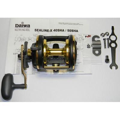 Carretilha Pesca Pesada E Oceanica Daiwa Sealine X50 Sha - R$ 460,00 no MercadoLivre