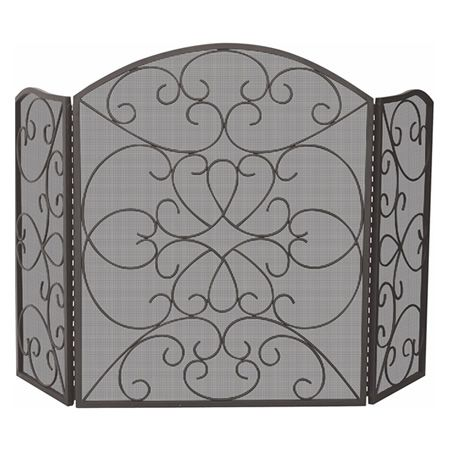 Elegance Bronze Wrought Iron Fireplace Screen | WoodlandDirect.com: Fireplace Screens, Uniflame