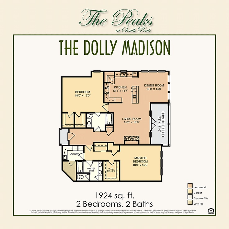 9 best the peaks at south peak images on pinterest floor plans the dolly madison southpeak floorplan malvernweather Gallery