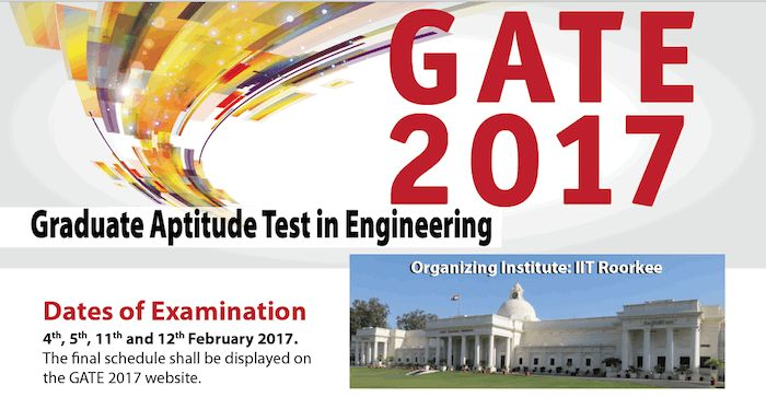 GATE Exam 2017 Complete Details http://kollegetimes.com/admission/gate-exam/
