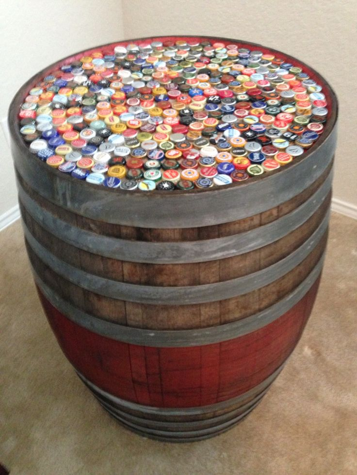 Best 25 wine barrel table ideas on pinterest whiskey for How to make a wine barrel bar