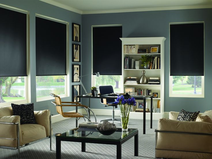 Get Ready For Game Day Best Window Treatments For Media Room Blinds Com Living Room Blinds Window Treatments Living Room Blackout Roller Shades