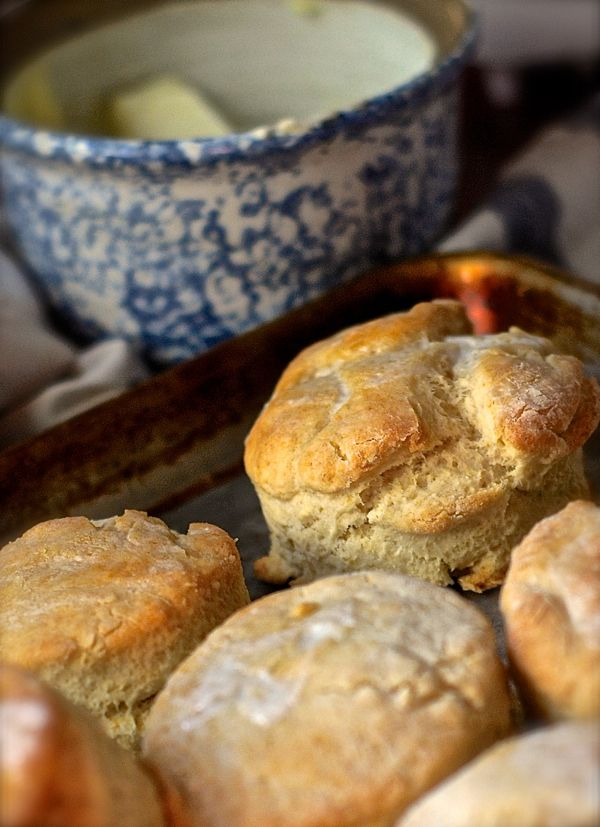 These biscuits use vinegar instead of buttermilk - good for last-minute baking decisions!
