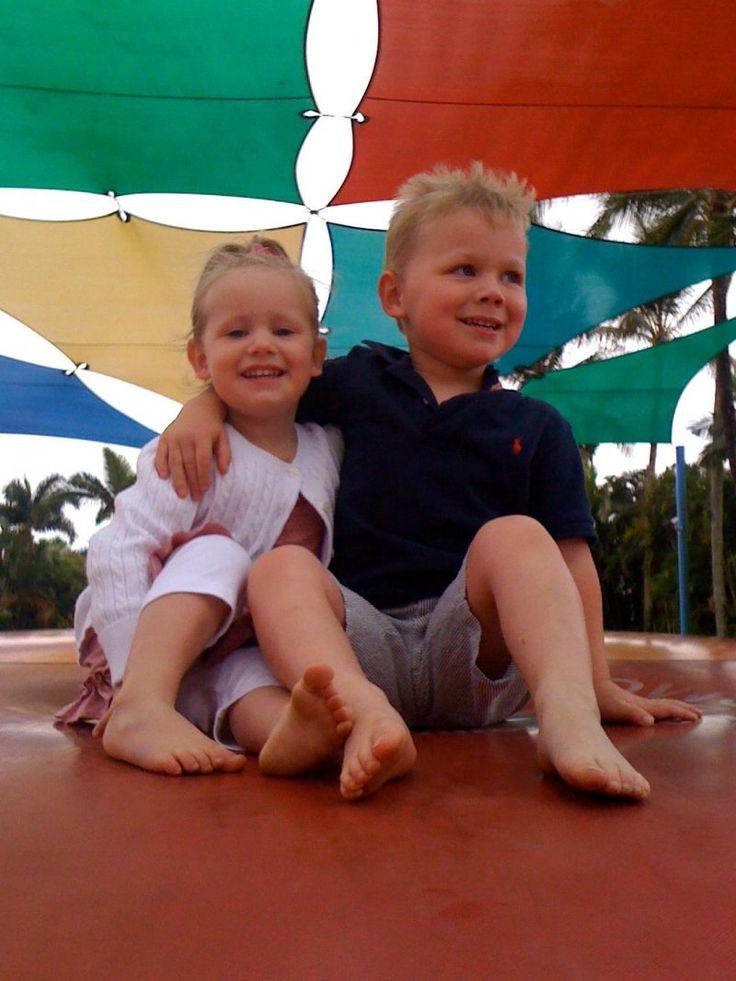 Jumping pillow fun @ Cairns Holiday Resort