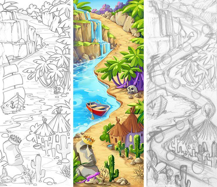game design concept art on behance - Game Design Ideas