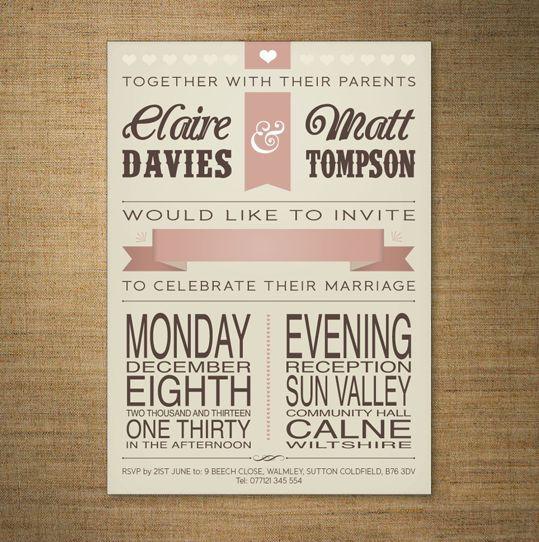 best 25+ retro wedding stationery ideas on pinterest   retro, Wedding invitations
