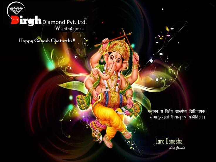 """#DirghDiamondPvtLtd Wishing you """" Happy Ganesh Chaturthi """" वक्रतुंड महाकाय सूर्य कोटि समप्रभ निर्विघ्नं कुरु में देव सर्वकार्येषु सर्वदा।"""