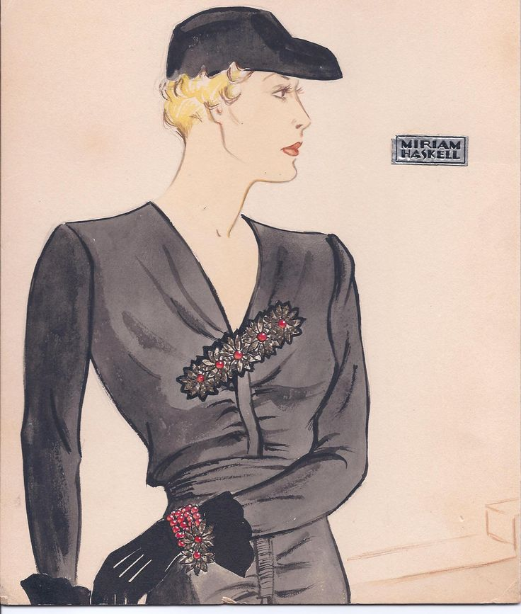 47 Best Vintage Miriam Haskell Ads And Illustrations