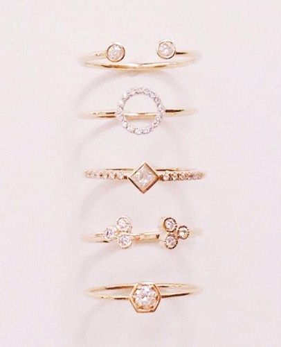 Diamond n gold rings