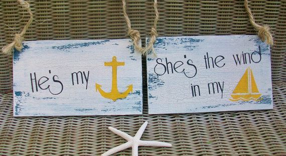 NAUTICAL Wedding Signs NAVY Bride & Groom BEACH Wedding Anchor  Military Wedding