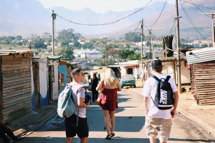 Walking the streets of the Kayamandi township, just outside of Stellenbosch