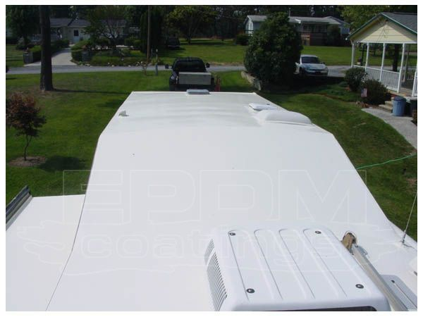 Liquid Roof RV Sealant by EPDM  It absolutely bonds to the substrate and provides100% seamless guaranteed end to your roof.  #Liquidroof, #liquidroofrv