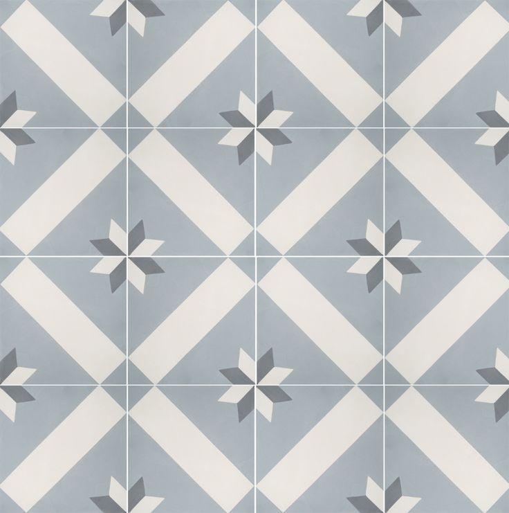 """Historiske Fliser """"Norsk nr 19"""", handmade tiles in late 1800s style, from historiske.no"""