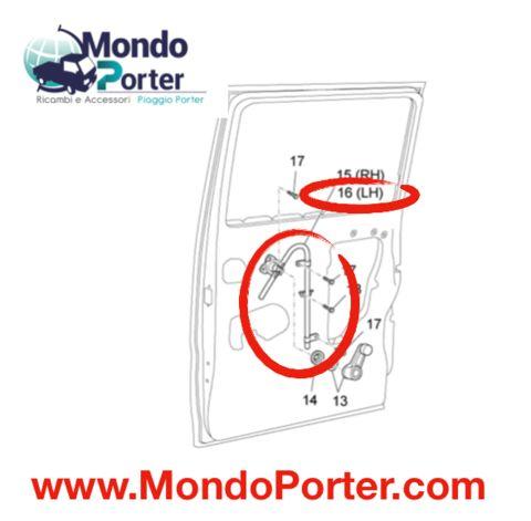 Alzacristallo Sinistro Piaggio Porter Van B005948