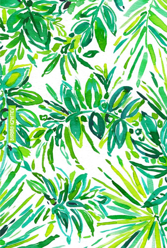 GREEN CANOPY Barbarian print #jungle #tropical #greenery #pantone