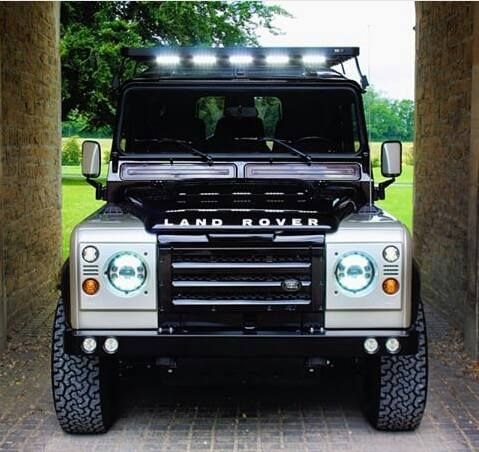 Land Rover Defender Td4 Customized. So Nice face.