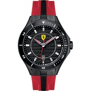 Men's Wrist Watches - Ferrari Scuderia Race Day Black Dial Red and Black Silicone Mens Watch 830080 -- You can find more details by visiting the image link. (This is an Amazon affiliate link)