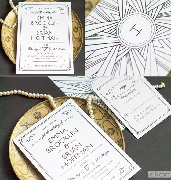 best 25+ art deco invitations ideas on pinterest, Wedding invitations