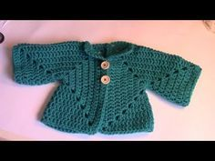 Haken - tutorial: babyvestje - YouTube