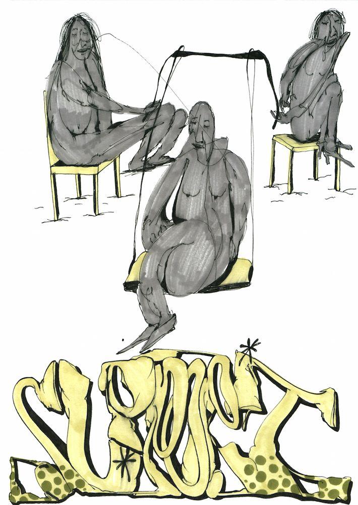 "Maksim Ima ""Support"", marker on paper, 21x30, 2016 #современное #искусство #дизайн #интерьер #design #decor #interior #графика #живопись #contemporaryart #design #streetart #стритарт #abstraction #современноеискусство #арт #maximima #28bugs"