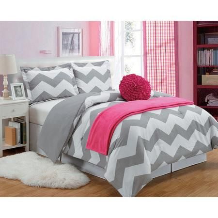 Luxury Home Chevron Comforter Set - Walmart.com                                                                                                                                                     Más