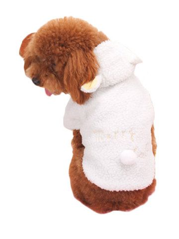 Soft Solid Pattern Dog Apparel Pet Warm Coats