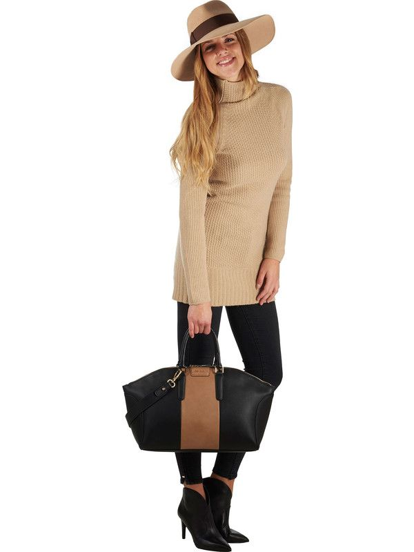 Mia Bag woman bag in ecoleather black and beige