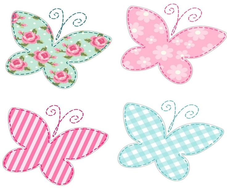 Here is a lovely collection of free applique templates. Use these beautiful and happy butterfly shapes to brighten up any pillow or pillow case.