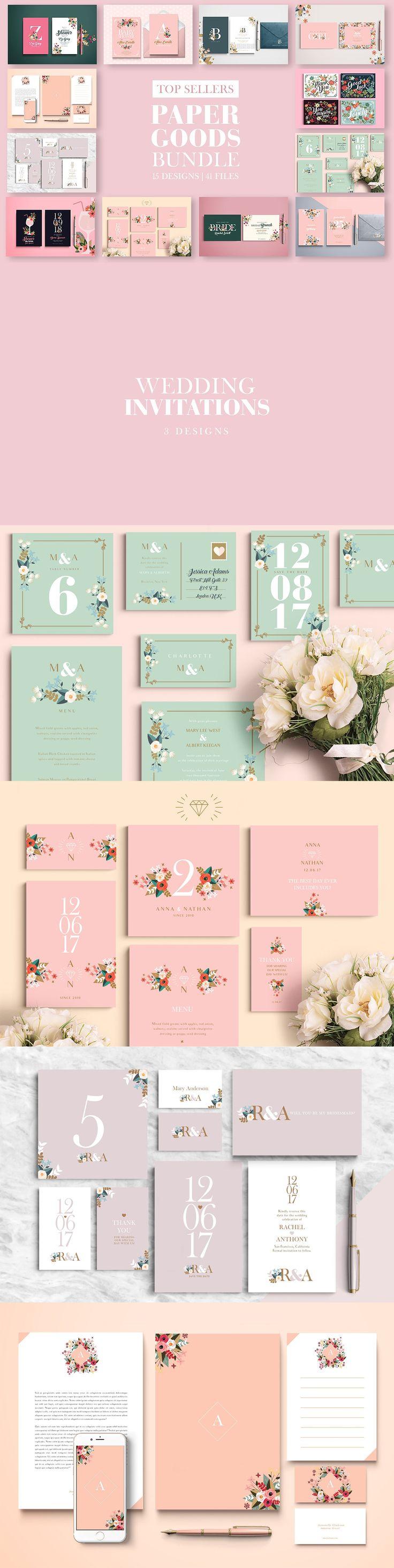 bridal shower invitations vector free%0A Top Sellers Paper Goods Bundle Templates PDF  AI    Bridal Shower InvitationsBirthday  InvitationsInvitation