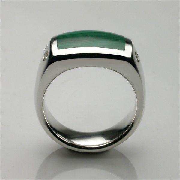 Wedding Band Oxford: Oxford Signet Ring Platinum & Hand Cut Onyx