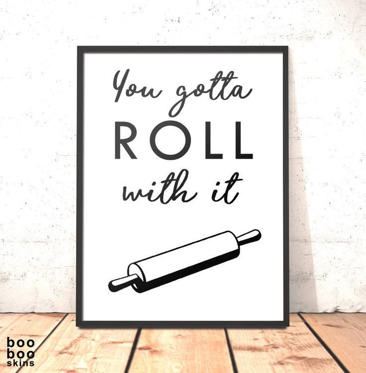 Kitchen Decor Print | Roll With It Print | Funny Kitchen Art Dining Room Housewarming Gift for Baker | Funny Kitchen Decor Oasis Lyrics by boobooskins on Etsy #oasis #rollwithit #funny #kitchen #art# print #poster #lyrics #song #baking #recipe #pastry #rollingpin #monochrome #decor #scandi #black #white #simple #bold