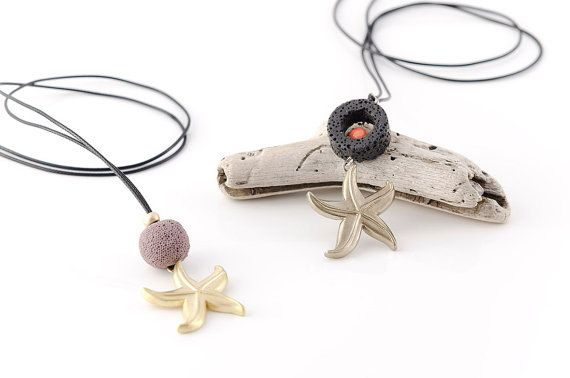 Starfish Necklace Beach Jewelry Handmade by AnVhandmadecreations