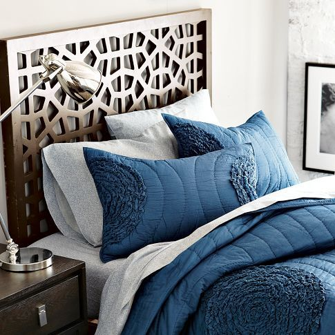 Ruffled Circle Quilt + Shams from west elm -guest room
