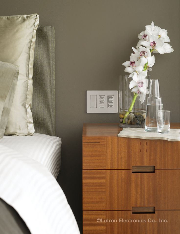 Bedside Keypads Allow You To Adjust The Light Levels In Both Your Bedroom  And Throughout Your