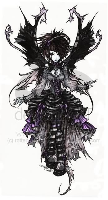 pretty. make it all black and a little more romantic than punky and I'd definitely tattoo this.