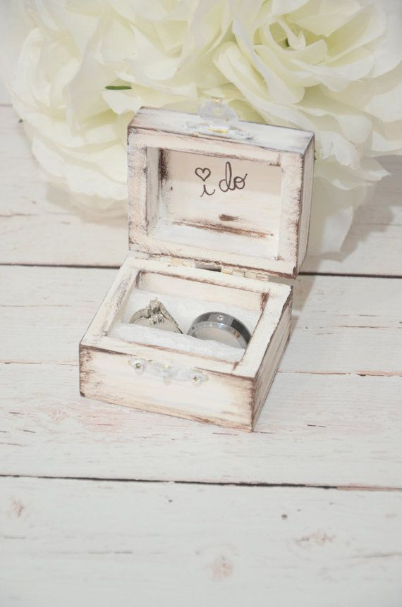 Rustic I DO ring bearer box by BellaBrideCreations on Etsy.  Cute!