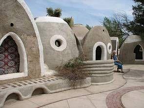 Cal-Earth / Nader Khalili (1936-2008): (California, USA)  sandbag construction