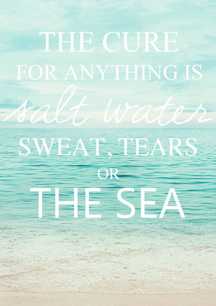 Pretty Little Things Ocean Quote Print - A3 my favorite quote :) Will ...