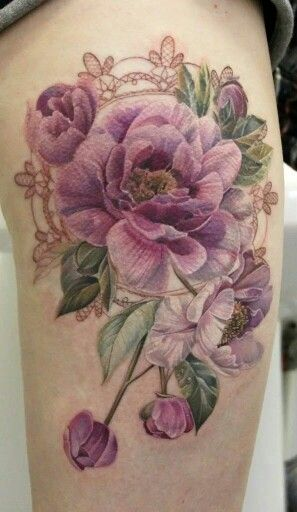Tattoo without black lining....interesting look to this style. Might be what I need