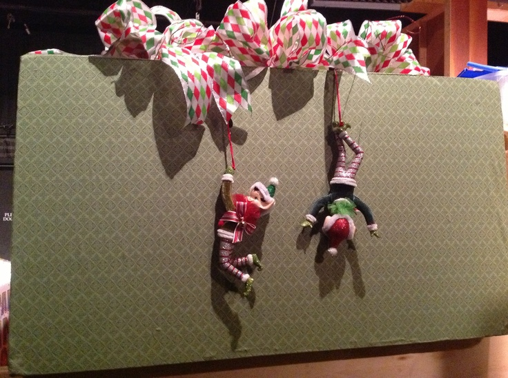Cute elf on the shelf idea.