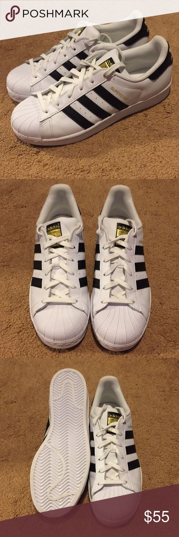 BRAND NEW Adidas Superstar shoes size 8! New adidas superstar shoes, size 8. They have been in my closet for a while and I've just never worn them. Feel free to make offers as well! adidas Shoes Sneakers