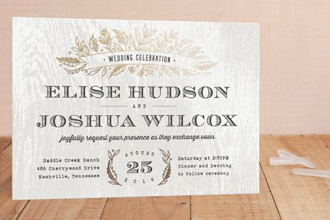 Woodland Romance Foil-Pressed Wedding Invitations by Hooray Creative at minted.com